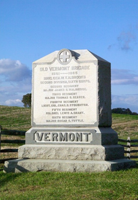 Vermont Brigade Monument at Antietam